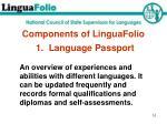components of linguafolio
