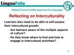 reflecting on interculturality