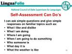 self assessment can do s