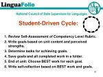 student driven cycle