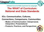 the what of curriculum national and state standards