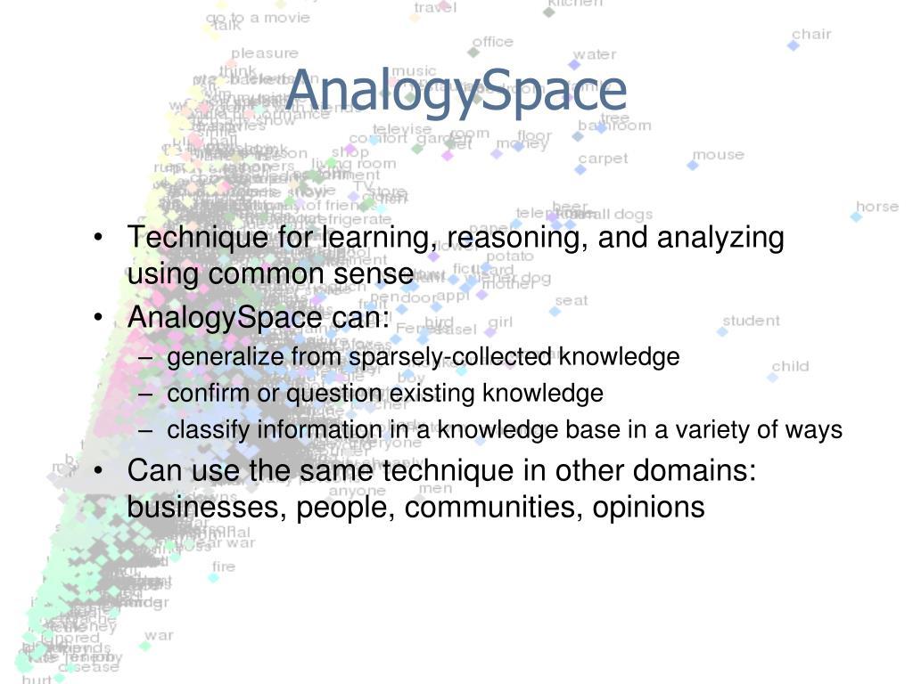 AnalogySpace