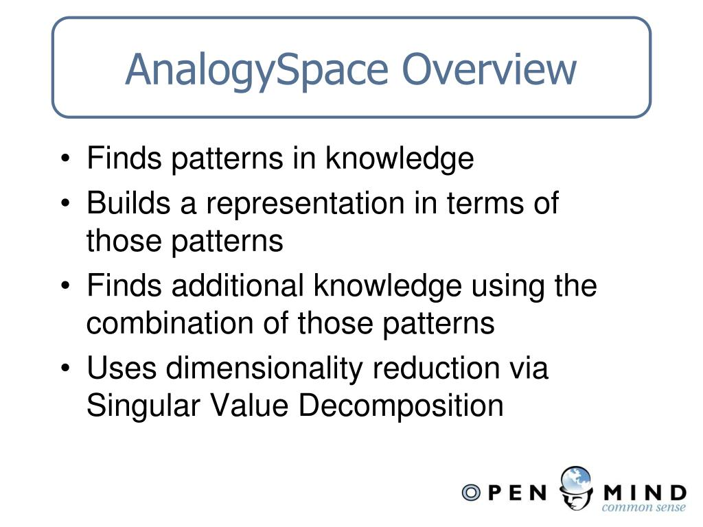 AnalogySpace Overview