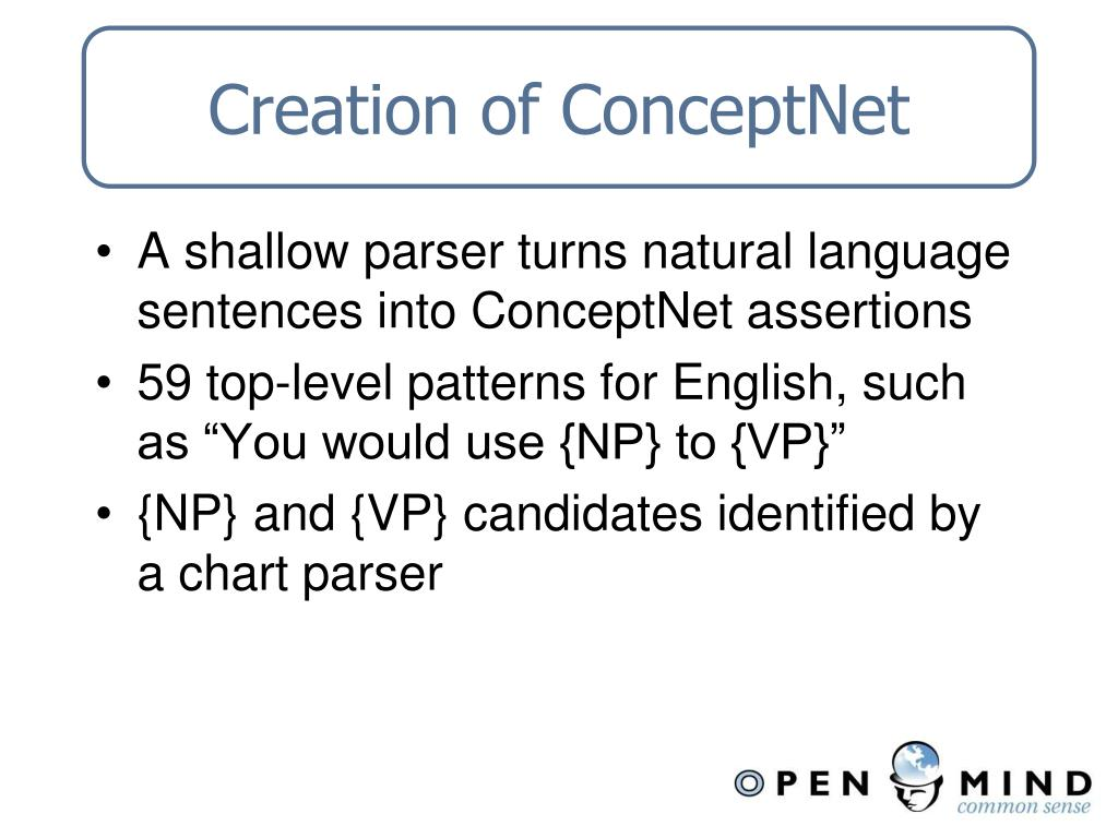 Creation of ConceptNet
