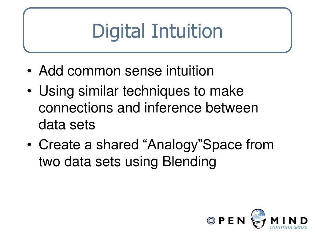 Digital Intuition