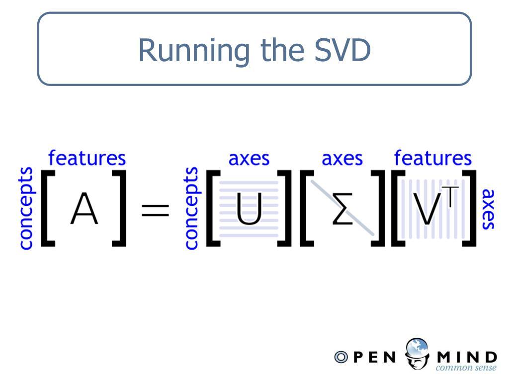 Running the SVD