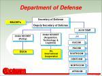 department of defense