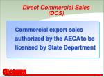 direct commercial sales dcs