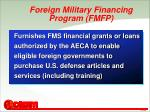 foreign military financing program fmfp