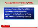foreign military sales fms