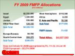 fy 2009 fmfp allocations in millions