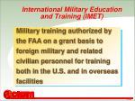 international military education and training imet