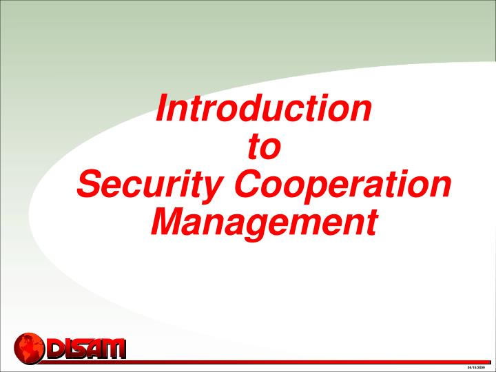 introduction to security cooperation management n.