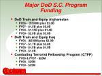major dod s c program funding