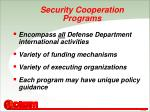 security cooperation programs