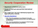 security cooperation review