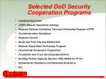 selected dod security cooperation programs
