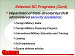 selected sc programs cont