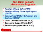 the major security assistance programs