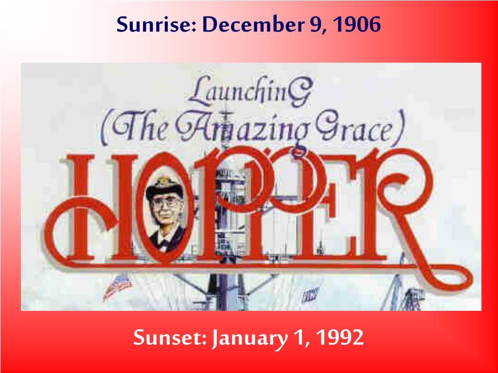 sunrise december 9 1906