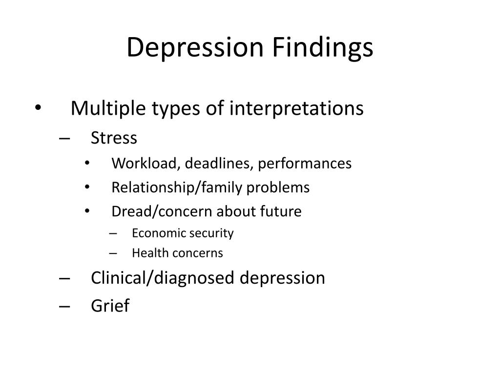 Depression Findings