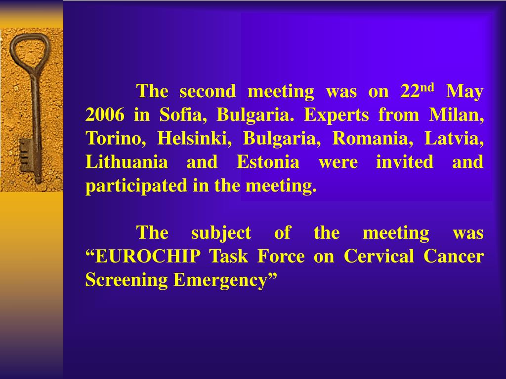 The second meeting was on 22