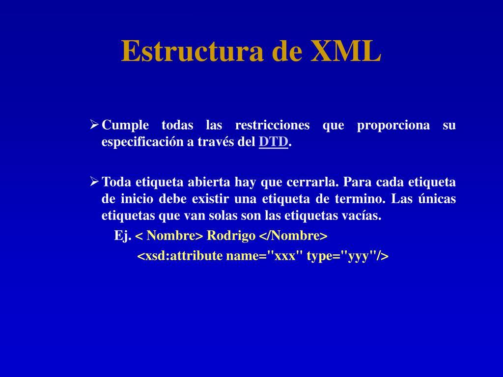 Estructura de XML