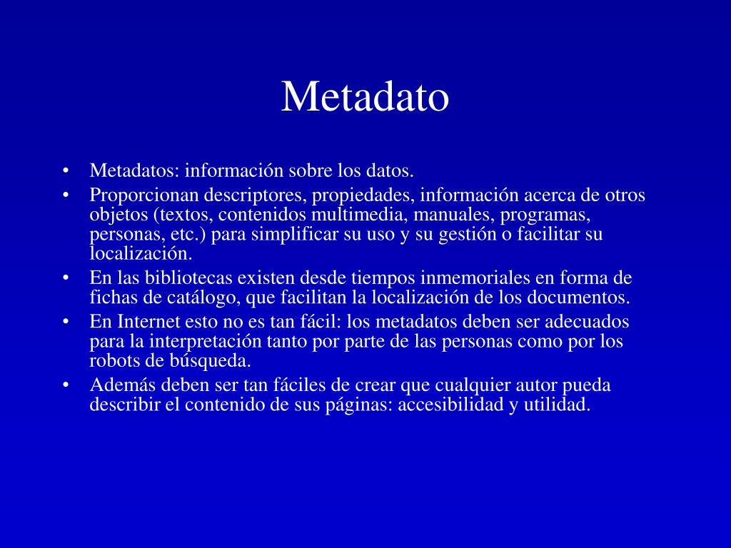 Metadato