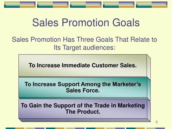 Sales promotion goals