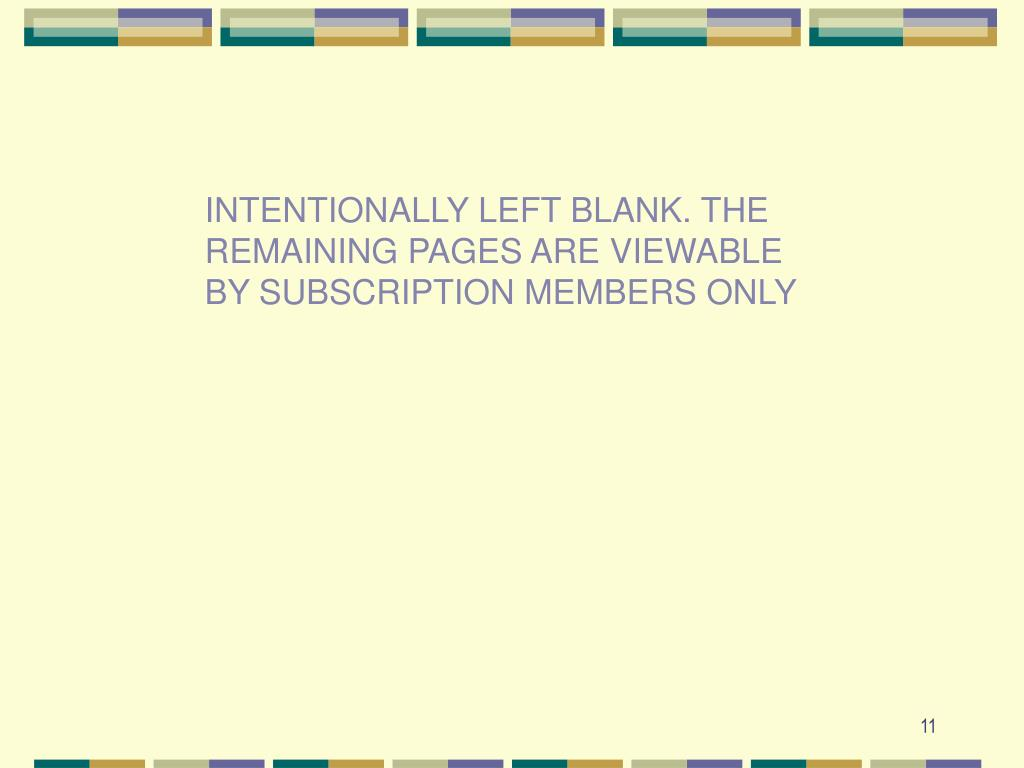 INTENTIONALLY LEFT BLANK. THE