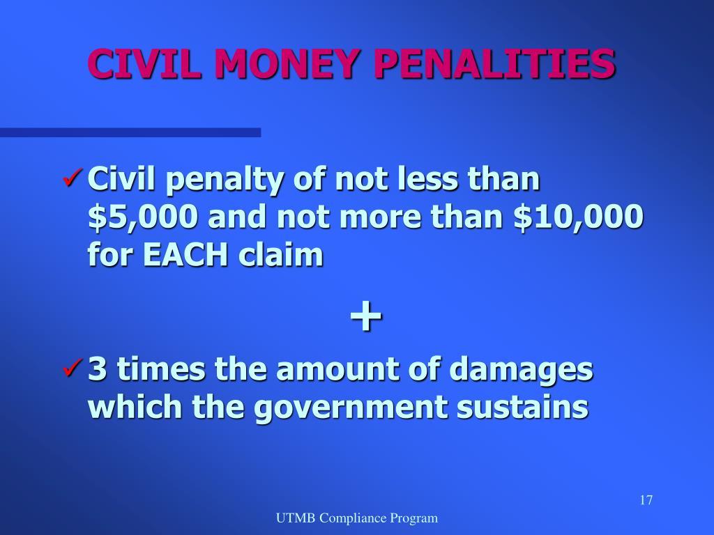 CIVIL MONEY PENALITIES
