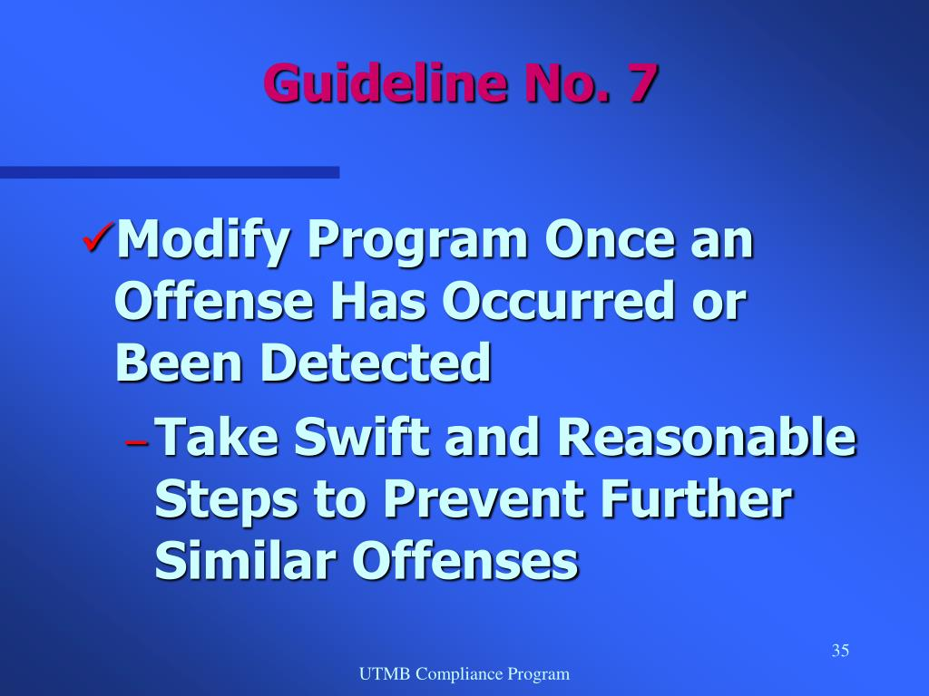 Modify Program Once an Offense Has Occurred or Been Detected