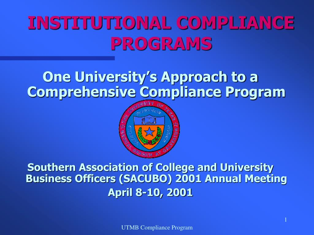 institutional compliance programs l.