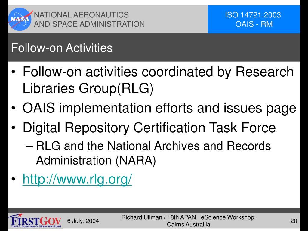 Follow-on Activities