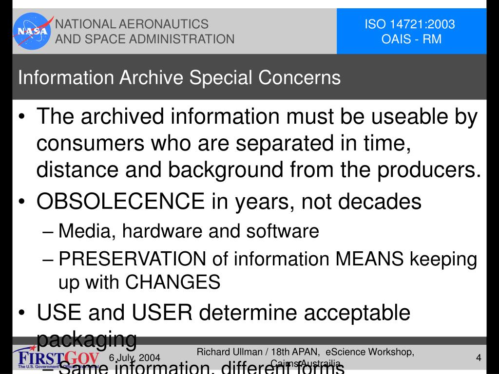 Information Archive Special Concerns