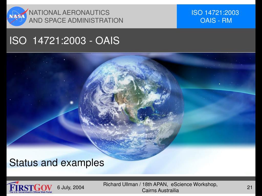 ISO  14721:2003 - OAIS