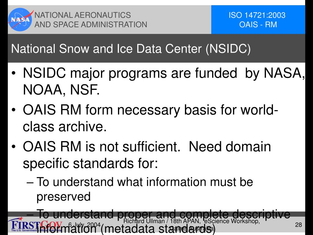 National Snow and Ice Data Center (NSIDC)