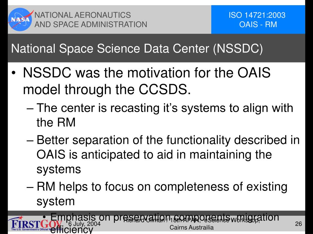 National Space Science Data Center (NSSDC)
