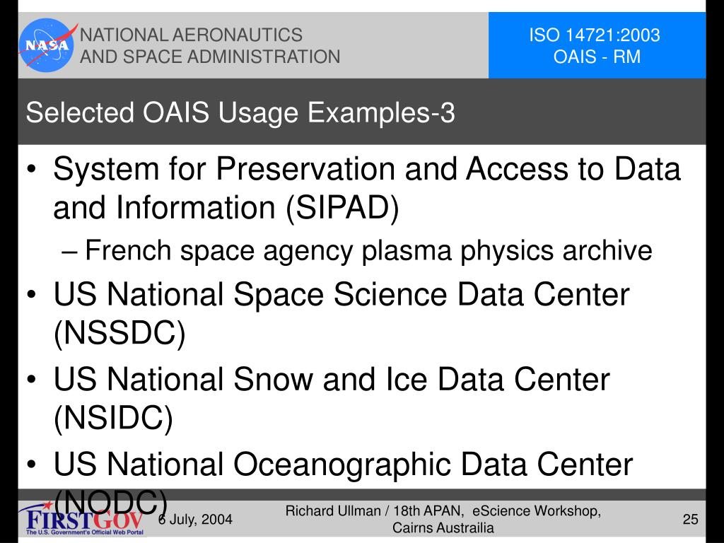 Selected OAIS Usage Examples-3