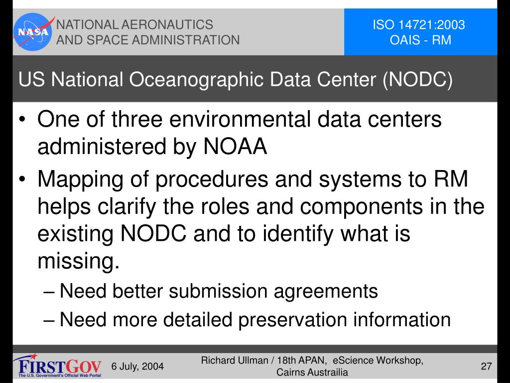 US National Oceanographic Data Center (NODC)
