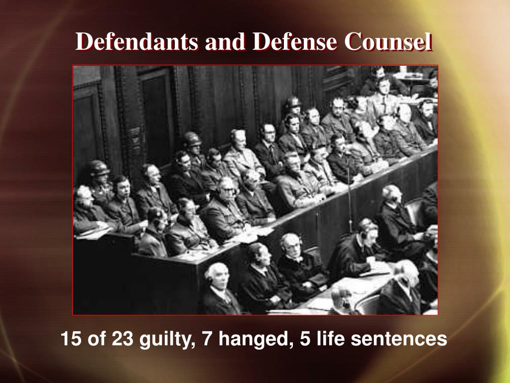 Defendants and Defense Counsel