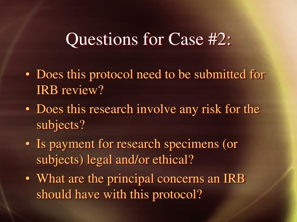 Questions for Case #2: