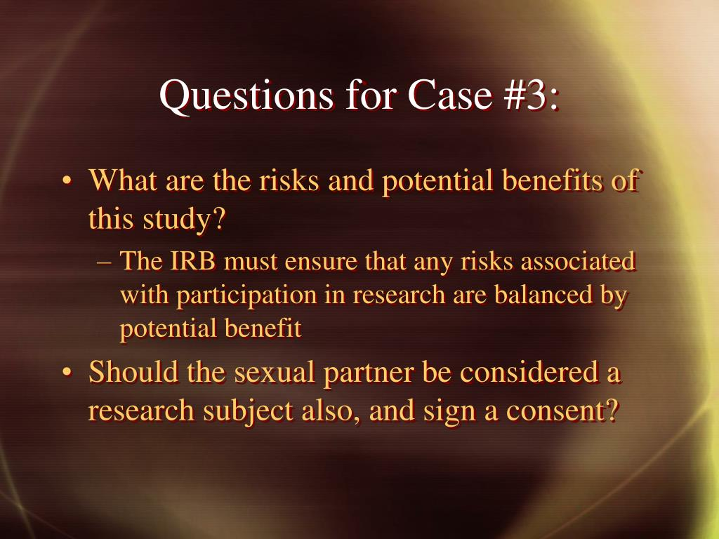 Questions for Case #3: