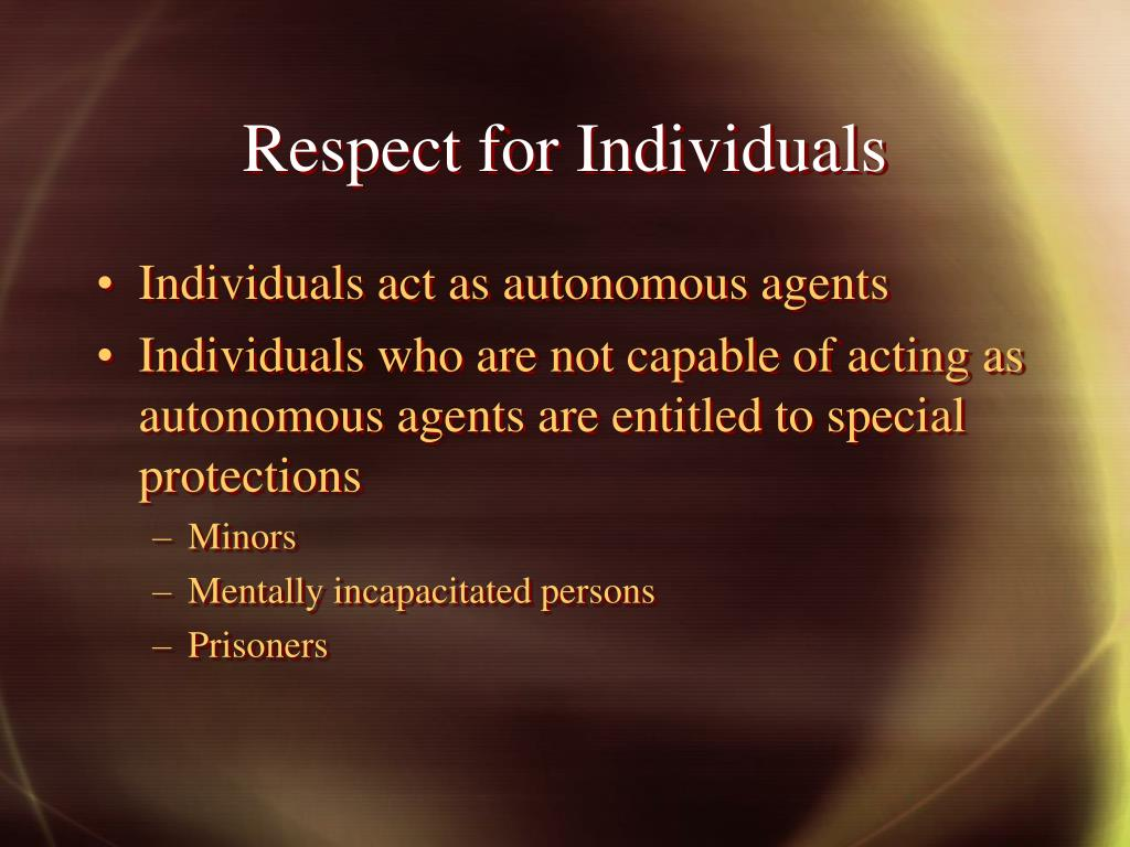 Respect for Individuals