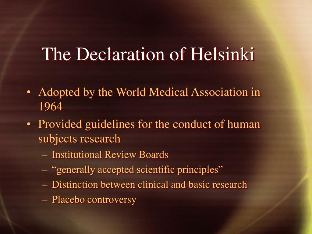 The Declaration of Helsinki