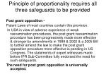 principle of proportionality requires all three safeguards to be provided24