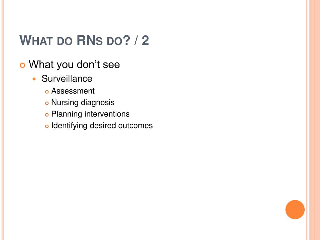 What do RNs do? / 2