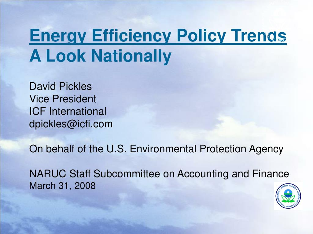 energy efficiency policy trends a look nationally l.