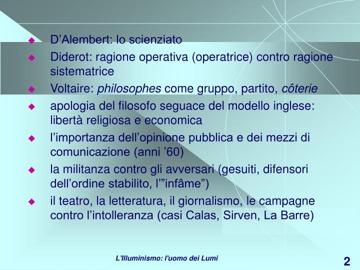 D'Alembert: lo scienziato