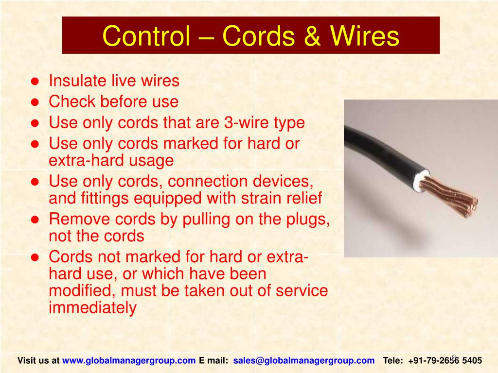 Control – Cords & Wires